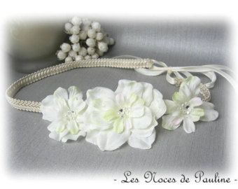 53_Pearl headband Headband wedding Ivory headband Crown
