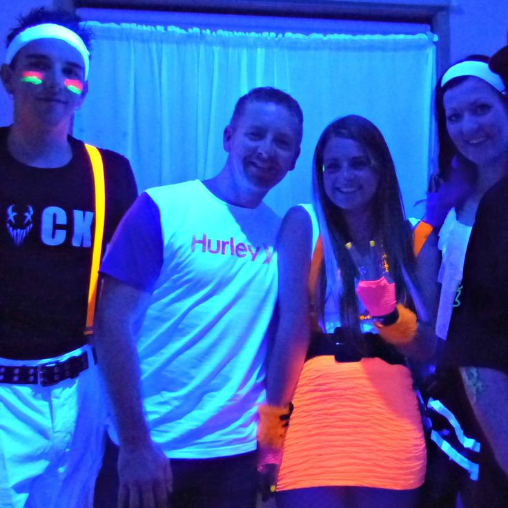 Buddies just glowing in the kitchen together | Black Light Party | Cosmic Events
