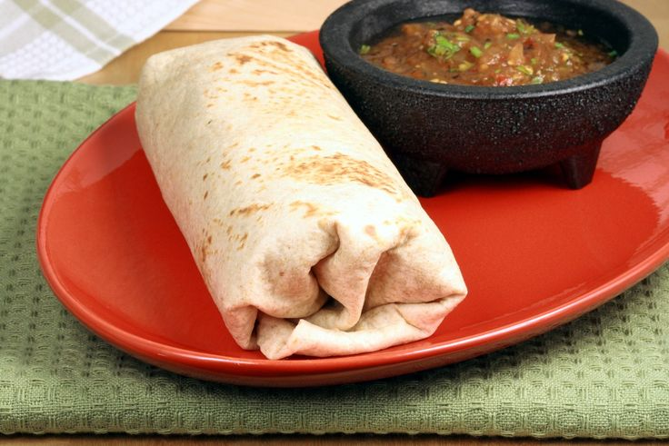 Mexican veggie wraps with home-made salsa,