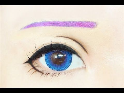 Tutorial : Anime Eye Makeup 192 • Megurine Luka - YouTube