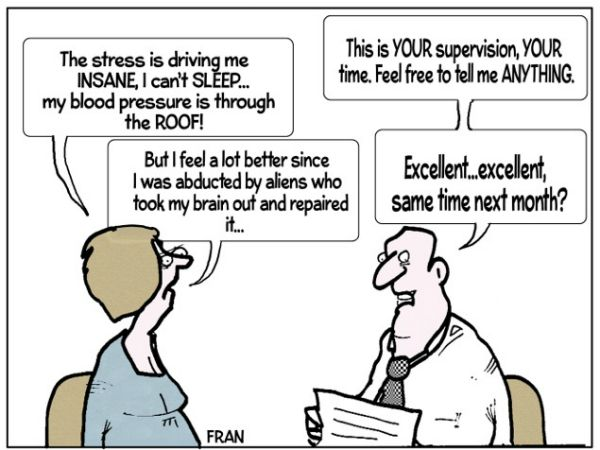 Social Work Cartoon 'Supervision' Community Care Made