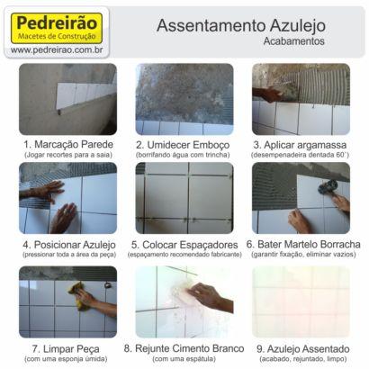 como assentar cerâmica e azulejo