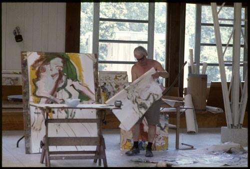 Linda McCartney - Willem de Kooning, Long Island, NY, 1968