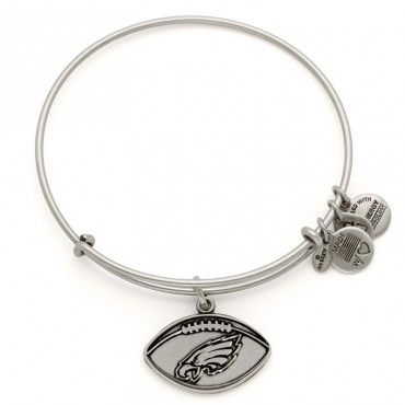 Philadelphia Eagles Football Charm Bangle