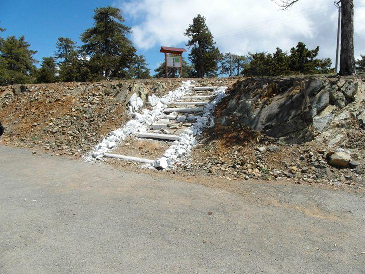 De Olympus berg, hoogste van cyprus en mini ski oord