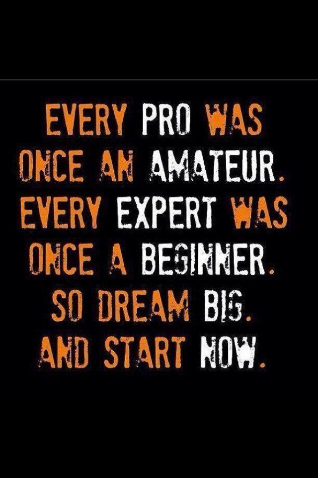 Nadie nace siendo un experto, se necesita mucho esfuerzo y dedicación para poder llegar a ser el mejor.