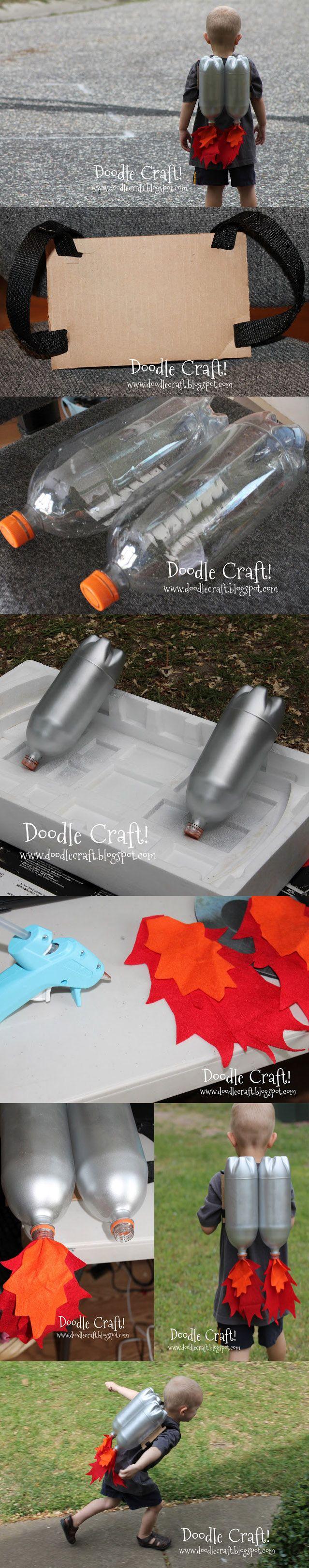 Mochila voladora de juguete DIY / de Doodle Craft