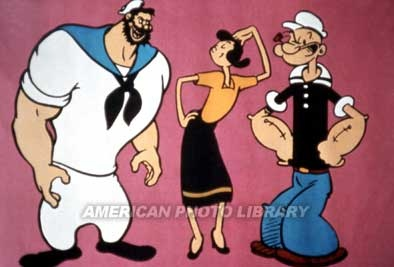 Popeye con Olivia y Brutus....  Pinned from PinTo for iPad 