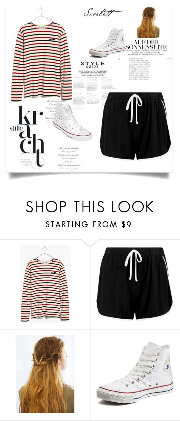"""LeeTeuk's female inspired Outfit"" by elipertuz on Polyvore featuring moda, Madewell, Boohoo, WithChic y Converse"