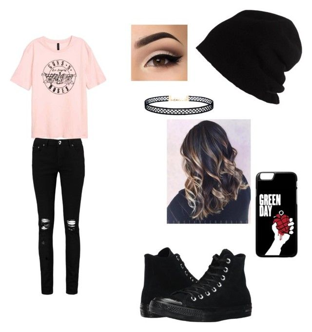 """""""Rock'n'roll"""" by izzyvb on Polyvore featuring Boohoo, SCHA, Converse and LULUS"""