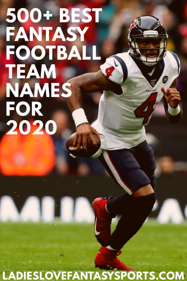 The Best Fantasy Football Team Names For 2020 In 2020 Football Team Names Fantasy Football Names Funny Cool Fantasy Football Names