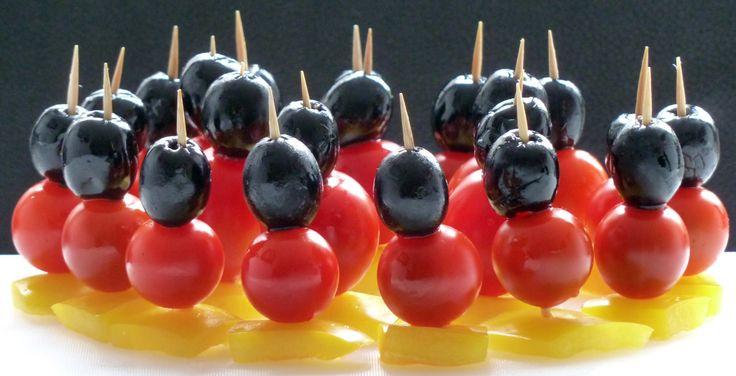 Schwarz Rot Gold Fußballweltmeisterschaft 2014 Stick Olive Tomate Paprika