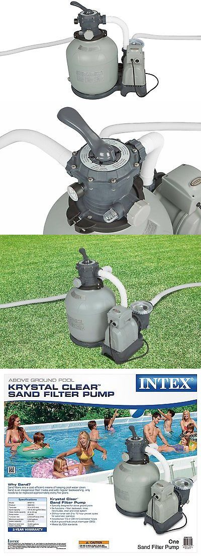 Pool Pumps 181485: Intex Krystal Clear Sand Filter Pump For Above Ground Pools, 3000 Gph Pump Flow -> BUY IT NOW ONLY: $219.99 on eBay!