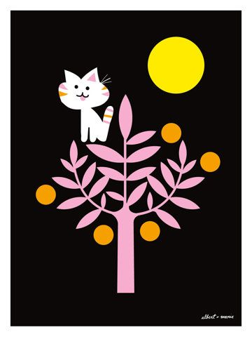 Kitty Citrus Living Large Poster 18 x 24 by AlbertandMarie