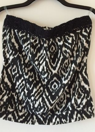 Buy my item on #vinted http://www.vinted.com/womens-clothing/tube-tops/11287187-black-and-white-tube-top