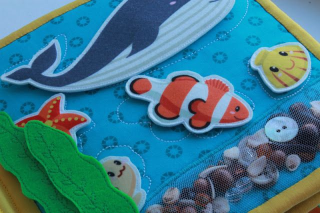 Love this seabed or beach idea... You can order these exact fish printed felt sheets for about $1 from Gmarket. It's like EBay for Korea.
