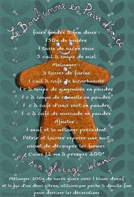Tambouille» pains d'épices pour le sapin