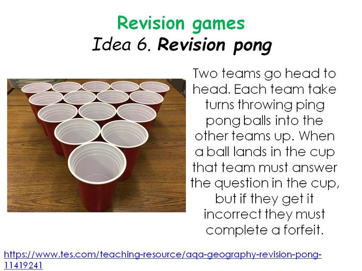 Sixty revision strategies – Mrs Geography
