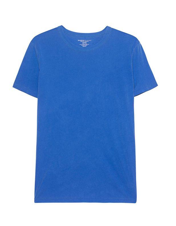 Baumwoll-T-Shirt Schmal geschnittenes royalblaues T-Shirt aus weicher Baumwolle mit Rundhalsausschnitt.  Ein hochwertiger Allrounder für coole Urban-Looks...