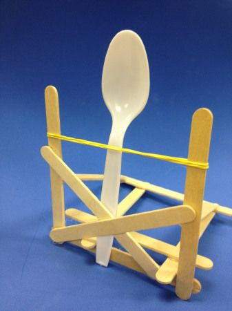 Here's a construction challenge for you - make a catapult and launch a marshmallow!