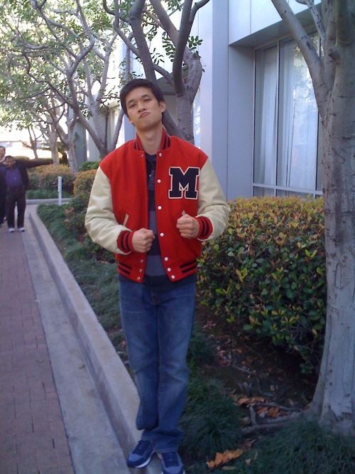 Mike Chang on his first day on Glee
