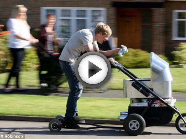 Promenez votre bébé avec la poussette motorisée la plus rapide du monde