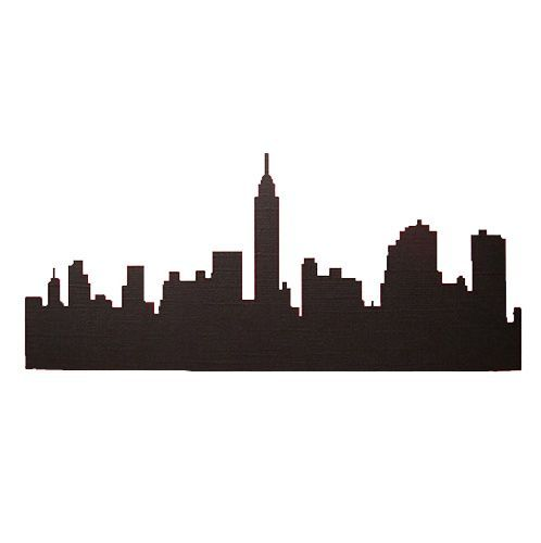 New York City Silhouette Cutouts For Side Walls Back