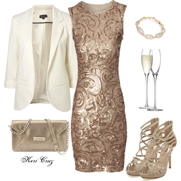 Office Holiday Party by keri-cruz on Polyvore featuring Jane Norman, Charlotte Russe, Nine West, Carolee and LSA International