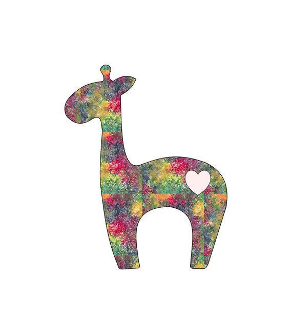 Baby Giraffe Applique Design Template by stickysugarstitches, $6.00