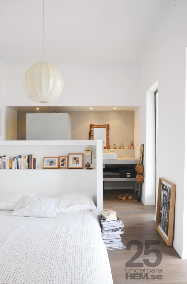 T te de lit et salle de bain d co loft pinterest for Tete de lit separation salle de bain