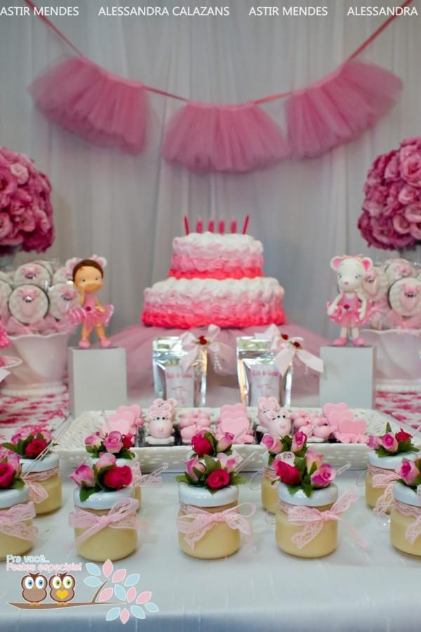 Angelina ballerina ballet girl dance birthday party for Ballerina party decoration ideas