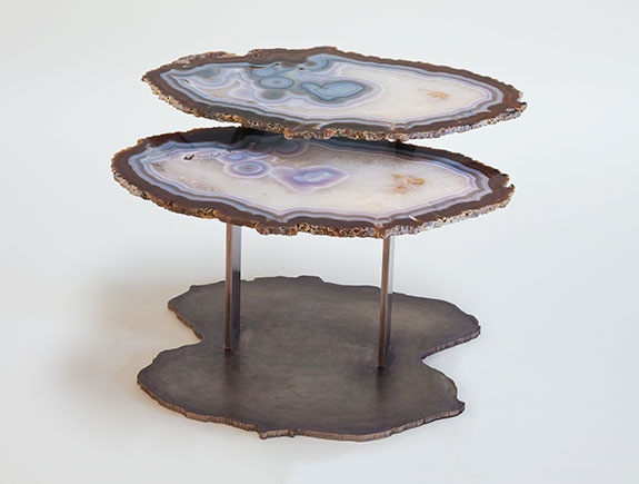 Agate side table. HOLLY HUNT studio.