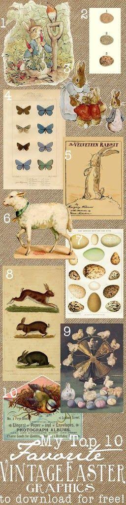 Free Vintage Easter Printables by Ella Claire