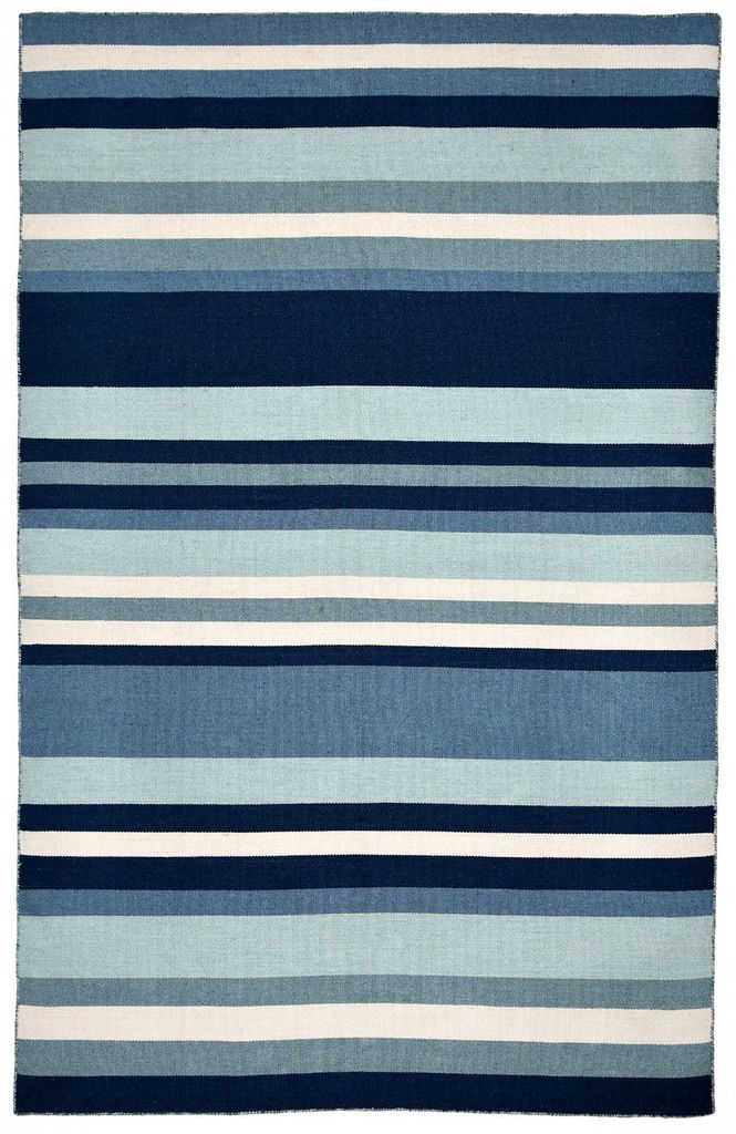Tribeca Water Blue Striped Woven Indoor Outdoor Rug Indoor Outdoor Rugs Outdoor Rugs Liora Manne