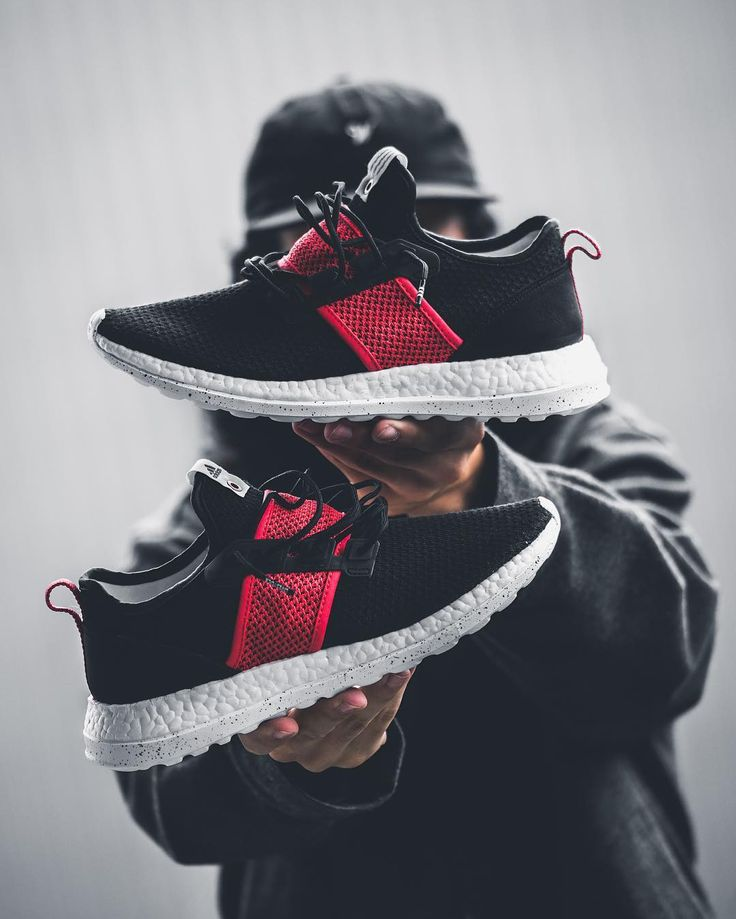 Pureboost x mesh and leather trainers