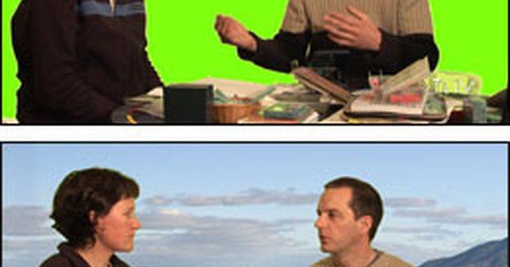 Cómo hacer una pantalla verde en casa. Una inserción croma es una aplicación en donde dos imágenes se combinan entre sí. El sujeto se para frente a una pantalla de un solo color, generalmente verde y luego se inserta otra imagen en su lugar. Por ejemplo, puedes agregar un estadio de baseball en el fondo y parecerá que te encuentras allí. Estas pantallas verdes pueden hacerse en casa ...