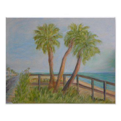 A1A IN FLAGLER BEACH Poster - coast design nature ocean diy custom