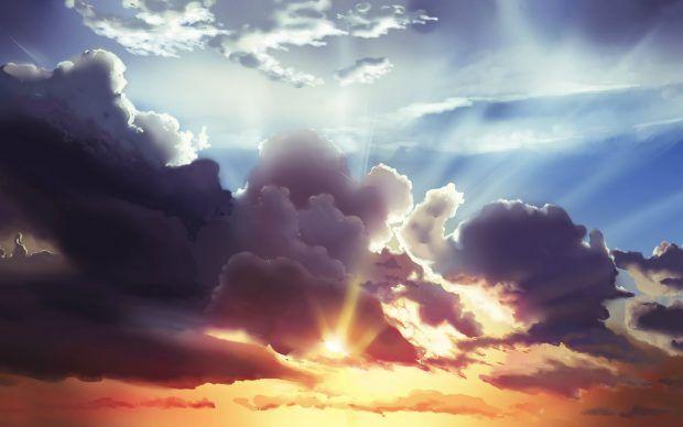 Cloudy Sky HD Wallpaper.