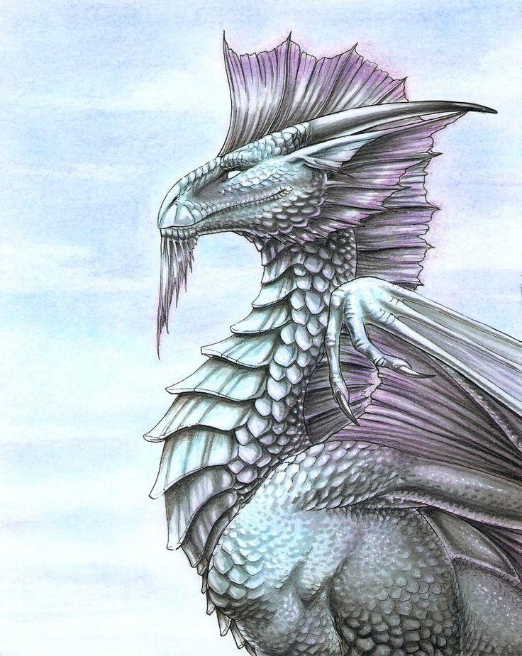 Silver Dragon by ~FlamSlade on deviantART