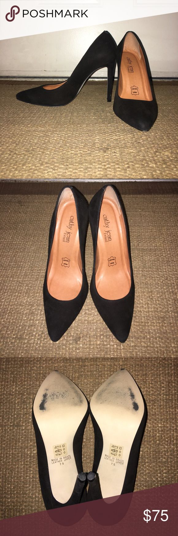 Cathy Jean Brazil Black Stiletto Heels Cathy Jean Brazil Black Stiletto Heels. NIB, worn once. Marked as 7.5, but sold as an 8, box says 8 as well. Fits narrow. Comes from a smoke free home. No trades and no low ball offers please! Cathy Jean Shoes Heels