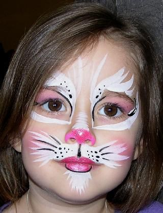 Kitty face, cat face, pink cat face, face painting, cat face painting, kitty face painting