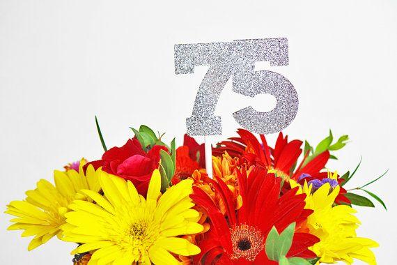 75th Birthday Decoration / 75th Birthday by ZeeBestCelebrations