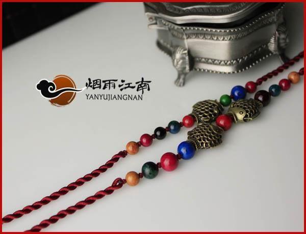 Интрига оригинальные украшения браслет опорное кольцо колокола цвета красные строки этнических китайцев женщина Рыбы женщин ретро стиль - Taobao