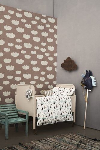 Ferm Living Shop — Cloud (Rose) Wallpaper