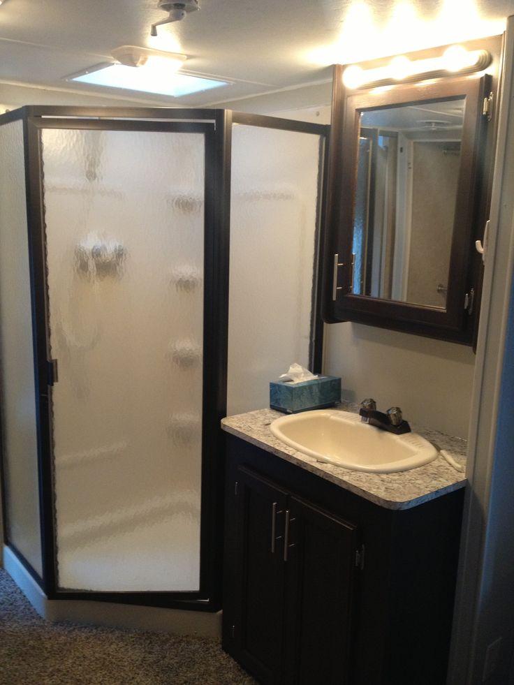 After RV renovation  Shower sink. 65 best RV remodel ideas images on Pinterest   Travel trailer
