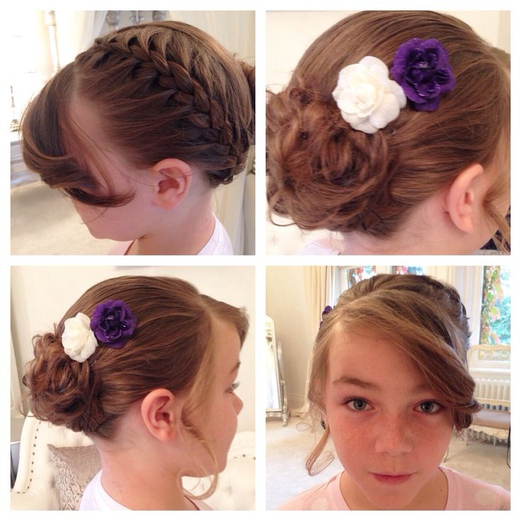 Hair plait into bun