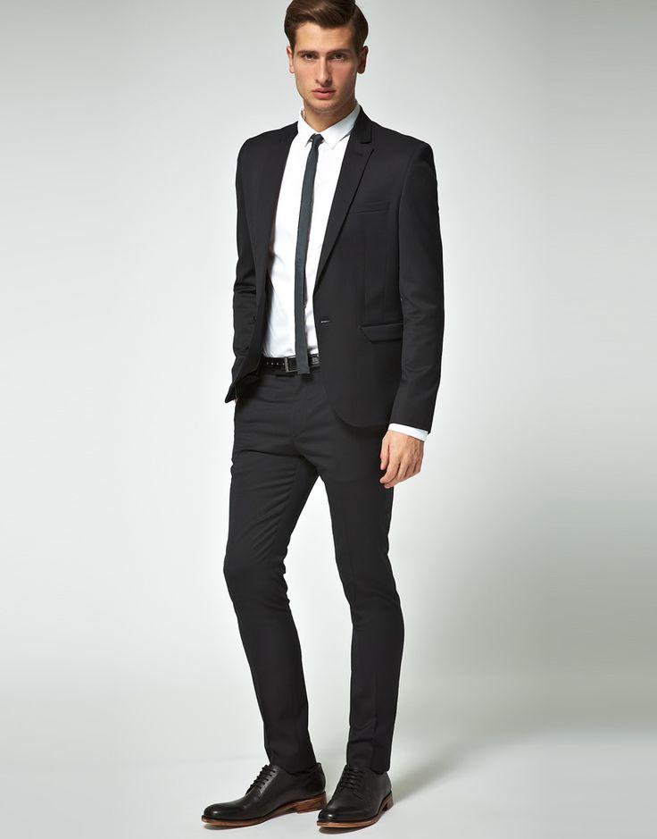 ASOS Skinny Fit Suit in Black at ASOS