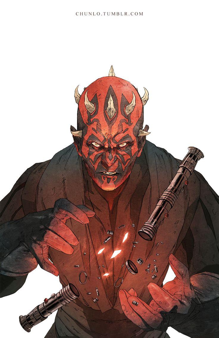Darth Maul - Star Wars fan art by Chun Lo