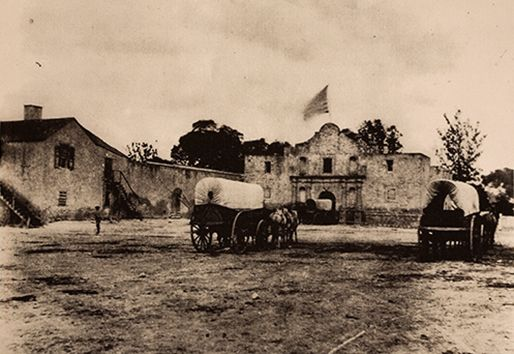 alamo | 1868 Alamo... US Army supply depot.  They put on the roof and built the famous bell copula