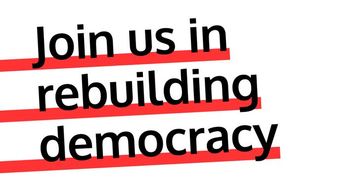 Join us in rebuilding democracy - Some of us are members of the Labour Party and others not. Jeremy's victory was made possible by people inside and outside the Labour Party who share a common hope in the future. There is an alternative. Things can get better.